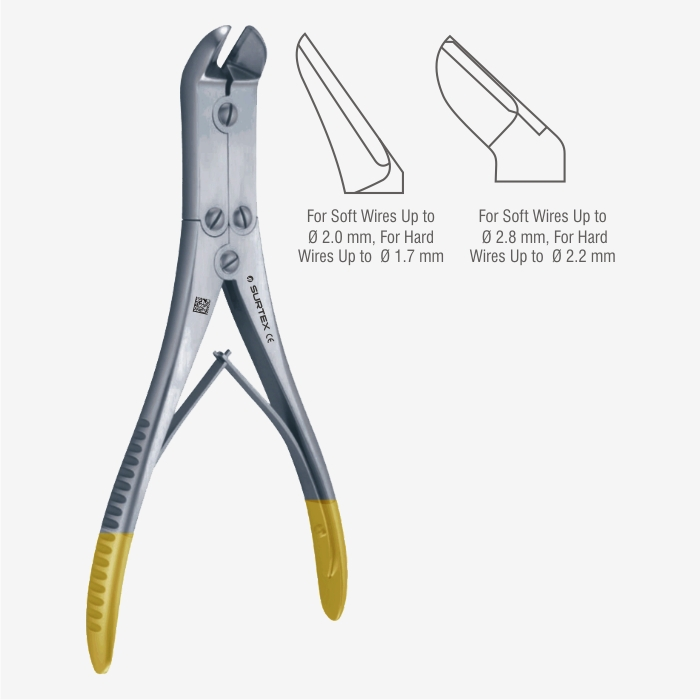 Orthopaedic// Surgical Heavy Hard /& Soft Wire Pin Cutters Pliers Carbide// TC Jaws